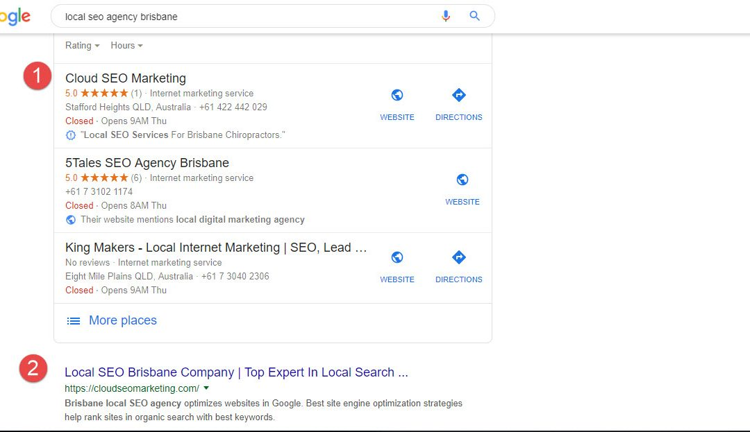 Case Study 2 – GMB Listings For SEO Brisbane