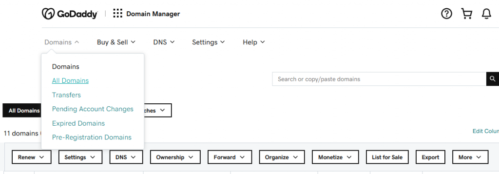 How To Navigate In GoDaddy Part 1 – My Domains
